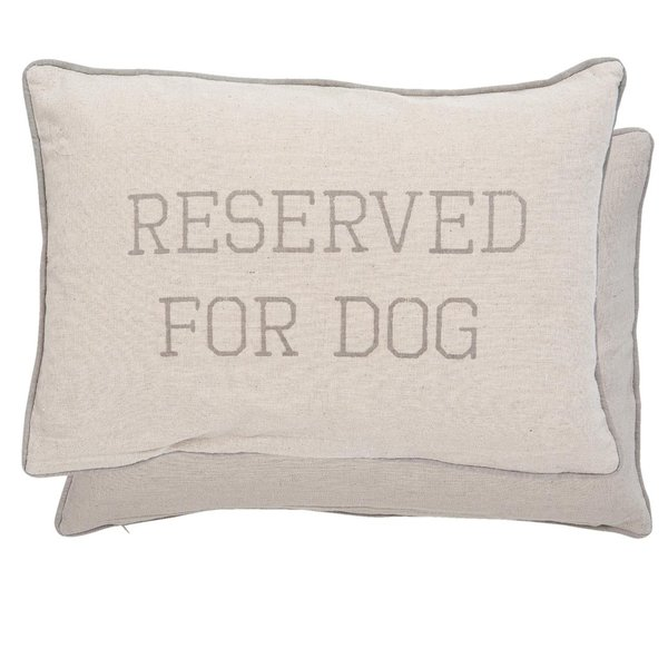 "Kissen ""reserved for dog"""